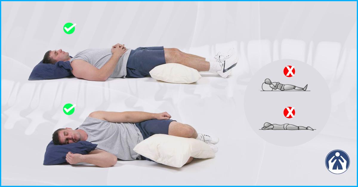 posiciones para dormir y aliviar el dolor de espalda